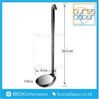 Stainless Tebal Soup Laddle / Centong Kuah 110 cc (T 39,5 cm, D 9 cm)