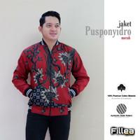 fillea jaket pusponyidro merah katun primisima batik solo alusan murah