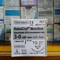 AssuCryl MonoSlow (PDO) 3-0 TS27 revcut