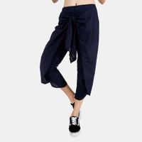Celana Panjang Wanita / Popper Navy Pants 42039D5NA - Ninety Degrees