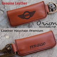 gantungan kunci kulit asli mobil motor costum logo nama
