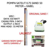 PROMO POMPA SATELIT /SUBMERSIBLE PUMP 3 SEP 2.5/16 0.75 HPSE+KABEL 50M
