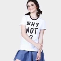Kaos Wanita / White Not Offwhite Tee 12625D4OW - Ninety Degrees