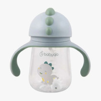 Babyqlo Dino Baby Straw Cup With Handle / Botol Minum Anak Dino-BQ 700