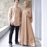 an baju couple gamis koko busana muslim fashion pria wanita serasi