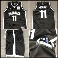 Jersey Basket Stelan NBA Brooklyn Nets Hitam Kyrie Irving