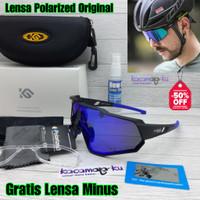 Kacamata Gowes Sepeda Lensa Minus Wanita Pria Polarized Original