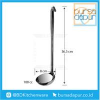 Stainless Tebal Soup Laddle / Centong Kuah 100 cc (T 36,5 cm, D 8 cm)