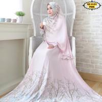 Setelan gamis Maxmara Lux GZ0151 Pink/ Gamis + Kerudung