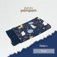 Selimut Bayi Minky Navy Blue Premium - Bunny