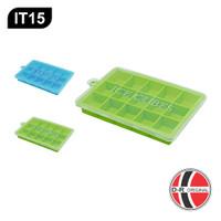 IT15 Cetakan Es Batu Silikon / Silicone Ice Cube Tray (15 Kotak)