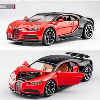 Diecast Miniatur Mobil Bugatti Chiron Merah