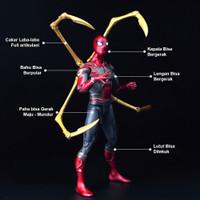 Mainan figure marvel avengers spiderman - iron spider infinity war