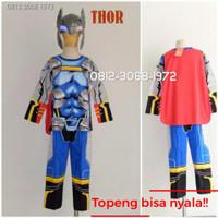 Topeng Nyala Kostum Thor Anak-anak Karakter Superhero Hadiah Istimewa