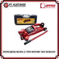 Dongkrak Buaya 2 Ton Lippro Trolley Jack Dongkrak Mobil Rotary 360