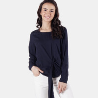 Blouse Wanita / Naive Navy Shirt 24510D9NA - Ninety Degrees