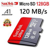 Micro SD 128GB Garansi 5 thn Speed 120Mbps SDXC card Sandisk 128 120