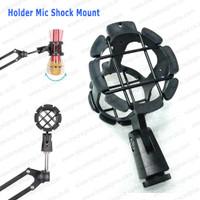 Holder MIC Pegangan Klip Clamp Jepit Microphone Stand Shock Mount Clip