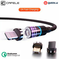 CAFELE Kabel Data Charger Magnet QC 3.0 3A 1M / Magnetic Quick Charge