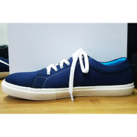 Sepatu Kanvas Pabrik Canvas Shoes Polos Bertali Blue Marlin