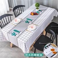 Taplak meja makan anti air PVC premium tablecloth waterproof cantik - 007
