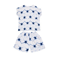 Nade Japan FT057 AMS Baju Tidur Tie Dye Star Wanita Set Baju Celana Ti