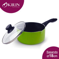 Sauce Pan Kirin Sasando + Glass Cover 18 cm