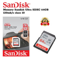 SD CARD 64GB 120mb/s Garansi 5 thn Sandisk Memory Kamera SDCARD SDXC