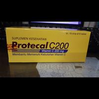 Protecal c 200 mg isi 100 daya tahan tubuh dan vitamin c
