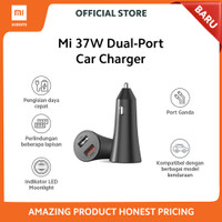 Xiaomi Official Charger Mobil Mi 37W Dual-Port USB Car Charger