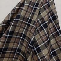 Kain Kotak Semi Wool (coklat, krem, hitam )