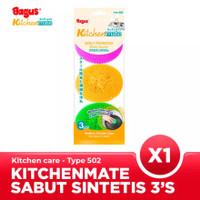Bagus Kitchenmate Sabut Pembersih Plastik 3pc Tipe 502