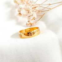 Ring Princess Branded Hadiah Pacar Gold Shop Cincin Wanita Emas asli