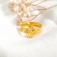 Ring Princess Bunga Hadiah Pacar Gold Shop Cincin Wanita Emas asli