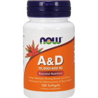 now foods A&D 10.000 400iu isi100 vitamin A&D