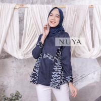 fashion wanita batik MODERN BLOUSE ROYAL ULTRAMARINE by NUYA OUTFIT