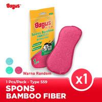 Bagus Sabut Spons bamboo fiber 1pc Sponge cuci piring 559