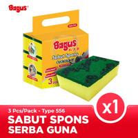 Bagus Sabut Spons Multipurpose 3pc Sponge cuci piring 556