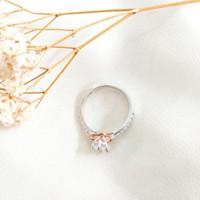 Ring Princess Pemata Jejer Wanita Hadiah Pacar Gold Cincin Emas asli