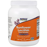 now foods sunflower lecthin powder nutrisi penting 454g