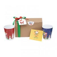 Paket Souvenir Mug Natal isi 2 + Gift Card/Hadiah Natal/Kado Natal