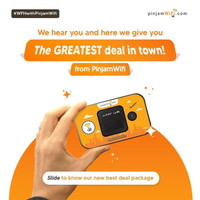 Pinjam Wifi portable Indonesia 25gb monthly unlimited Youtube Music