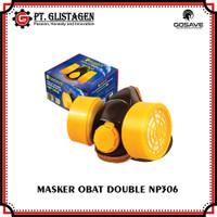 Half Mask Respirator Gosave NP 306 Catridge Obat Masker Moncong Dua
