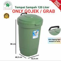 TONG SAMPAH BESAR RODA 120 LITER/ TEMPAT SAMPAH BESAR RODA GREEN LEAF
