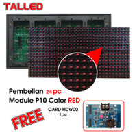 Modul Running Text P10 Talled Merah