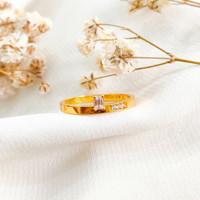 Ring Princess Permata Hadiah Pacar Gold Shop Cincin Wanita Emas asli