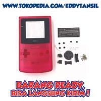 Nintendo Gameboy Color GBC casing shell Game Boy merah transparan
