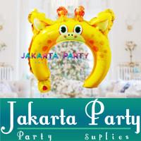 Balon Bando Karakter Jerapah / Animal Headband / Balon Foil Bando Anak