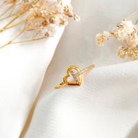 Ring Princess Love Permata Hadiah Pacar Gold Cincin Wanita Emas asli