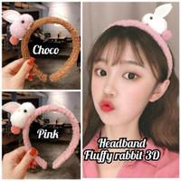 bando boneka kelinci 3D/headband rabbit 3D/bando rabbit plush headband